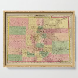 Colton's Sectional Map of Colorado (1878) Serving Tray