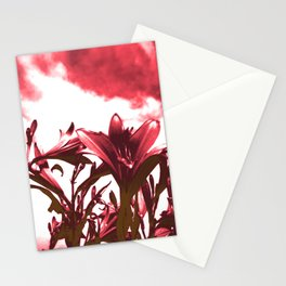Lilies in Red Stationery Cards