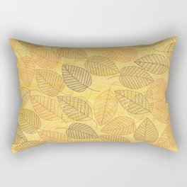 LEAVES ENSEMBLE YELLOW Rectangular Pillow