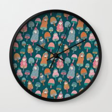 Pattern Project #49 / Mushroom Girls Wall Clock