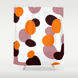 Simple, design wood dots, Exotico Shower Curtain