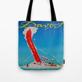Davos Switzerland Ski Travel Tote Bag
