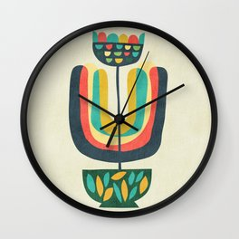 Potted Plant 3 Wall Clock
