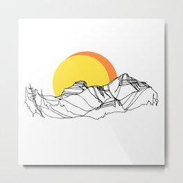 Rockies Ridge :: I Metal Print