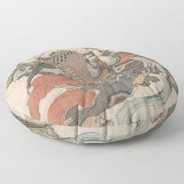Mystical Bird (Karyōbinga) - Hokusai Floor Pillow