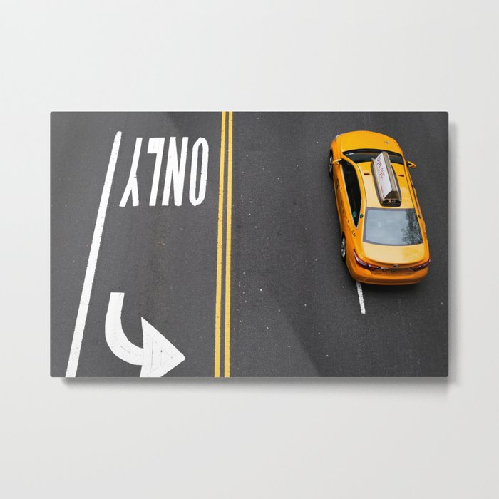 Only NYC Taxi Metal Print
