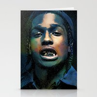 asap rocky Stationery Cards featuring Asap, long live Rocky by Michaëlis Moshe