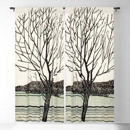 Julie de Graag - Bald tree Blackout Curtain