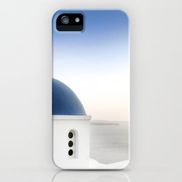 Santorini White and Blue Church View iPhone Case