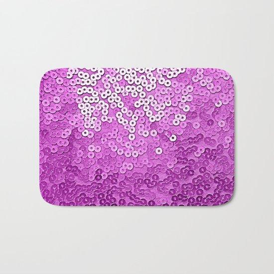 Fun Purple Sequins Bath Mat