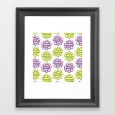 Fun Flowers purple green Framed Art Print
