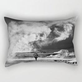Walking into Fire Rectangular Pillow