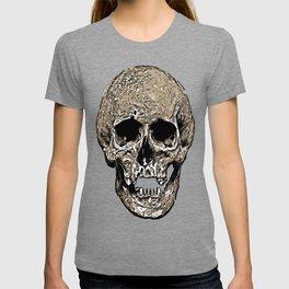 Full Skull With Rotting Flesh Vector T-shirt