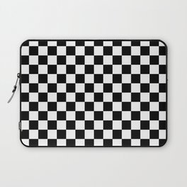 White and Black Checkerboard Laptop Sleeve