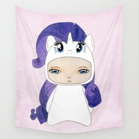 mlp Wall Tapestries featuring A Boy - Rarity by Christophe Chiozzi