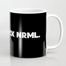 Get Weird - White On Black Coffee Mug
