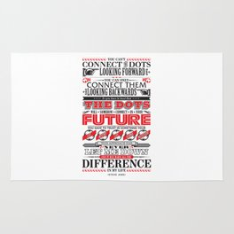 """Steve Jobs """"Connecting the dots"""" quote print Rug"""