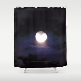 The Moon (Energize Me) - Jeronimo Rubio Photography 2016 Shower Curtain