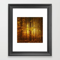 Yellow Fall Framed Art Print