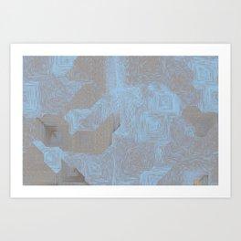 Pixel Sort: Desert #10 / Random Seed / 1500 Steps / 30 Seeds / Diagonal Art Print