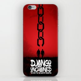 Django Unchained - Minimal Movie Poster. A Film by Quentin Tarantino. iPhone Skin