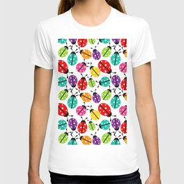 Lots of Crayon Colored Ladybugs T-shirt