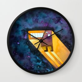 Tetris Monster Zooming Wall Clock