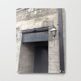 Old Montreal Stone Doorway Metal Print