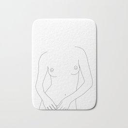 Nude woman's figure line drawing illustration - Daria Bath Mat