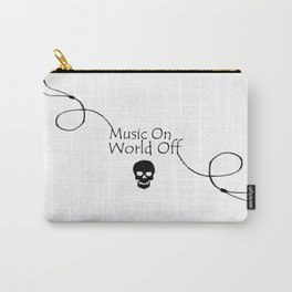 Music On World Off Typography Carry-All Pouch