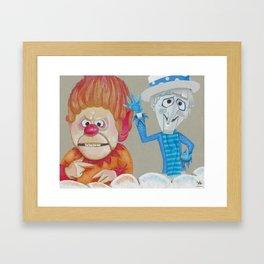 Heat Miser & Snow Miser Framed Art Print