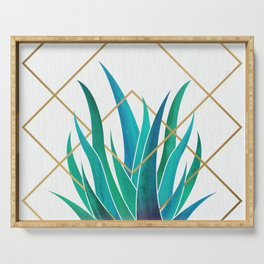 Modern Succulent - metallic accents Serving Tray