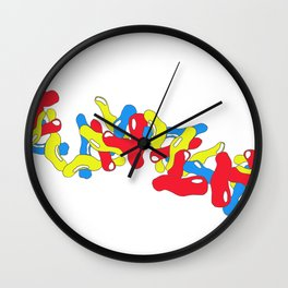 Primary Cells Wall Clock