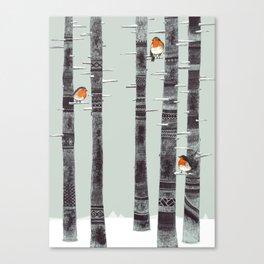 Robin Trees Canvas Print