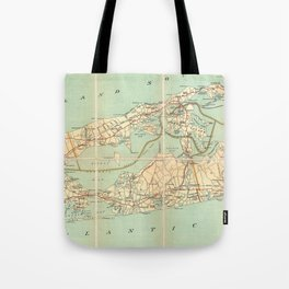 Vintage Road Map of Long Island (1905) Tote Bag
