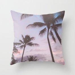 Pastel Palm Trees Throw Pillow