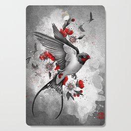 swallows and sakuras Cutting Board