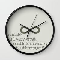 infinite Wall Clocks featuring Infinite by beesp