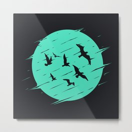 Birds of Moon Metal Print