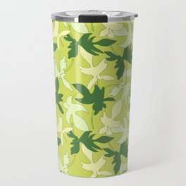 Philodendron Florida Ghost Rare Tropical Plant Pattern Travel Mug