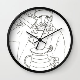 Pour Over Guy Wall Clock
