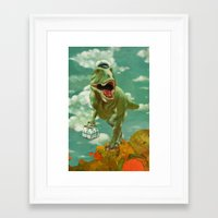 dino Framed Art Prints featuring Dino by Edith Waddell