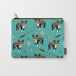 Boston Terrier witch wizard dog pattern gifts Carry-All Pouch