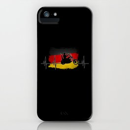 Biker Design With Germany Flag iPhone Case