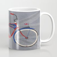 brompton Mugs featuring British Bicycle by Wyatt Design