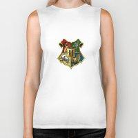 hogwarts Biker Tanks featuring HOGWARTS - HOGWARTS by alexa