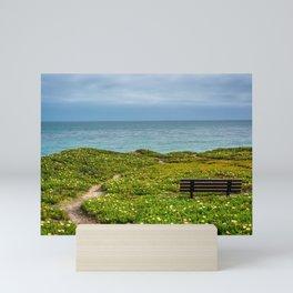 Bench over the Pacific Mini Art Print