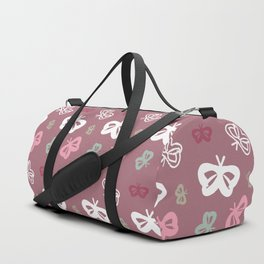 Flying Butterflies Pattern Full Color Duffle Bag