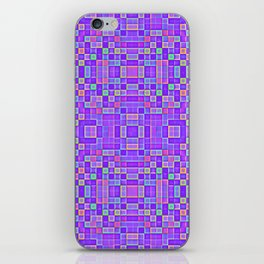 Colorful Purple Pixel Patterns iPhone Skin