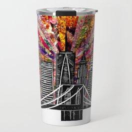 Linocut New York Blooming Travel Mug